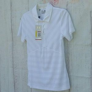 Under Armour Small Misses Top Blouse White NWT